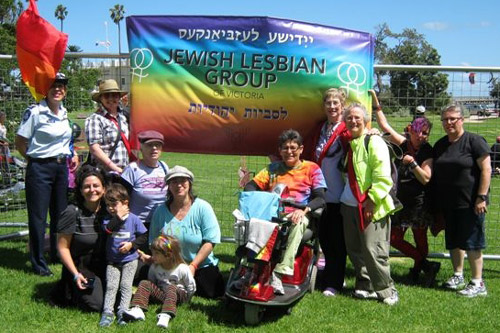 The Victorian-based Jewish Lesbian Group received a $500 grant to assist with the creation of their banner