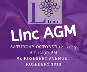 LINC AGM 12.10.19 @ 12:30pm